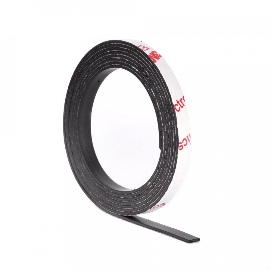 1 Meter self Adhesive Flexible Magnetic Strip, Magnet Tape